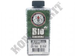 2700 x 6mm x 32g Grey Biodegradable Polished Airsoft BB Gun Pellets in Bottle G&G